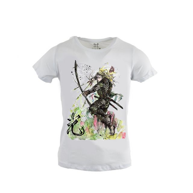 Γυναικείο T-Shirt 'Japanese Woman Warrior'